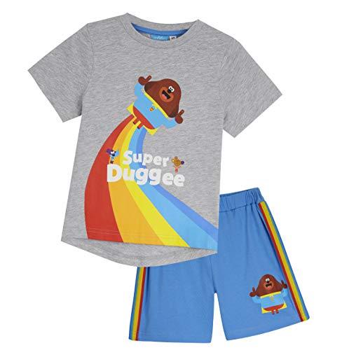 Hey Duggee Juego de camiseta y pantalones cortos, ropa de bebé, lindo traje de niño, juegos de ropa para niños de 12 meses a 5 años, trajes de verano de algodón, idea de regalo para niños