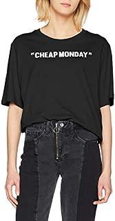 Cheap MondayウィメンズパーフェクトティーレビューTシャツ、ブラック、6(サイズ:XS)