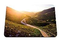 26cmx21cm マウスパッド (山道の蛇紋岩の夕日) パターンカスタムの マウスパッド