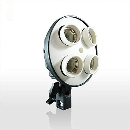 LimoStudio 4 Socket Photo Bulb Adapter - Converts 1 Socket into 4 - Use for Standard Socket Flourescent Bulbs, AGG882-A