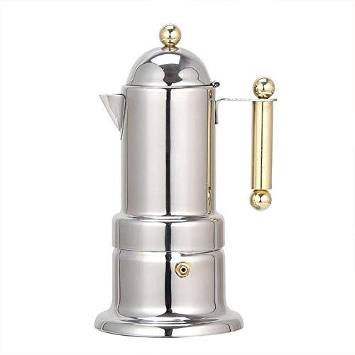 Edelstahl Kaffeekanne Moka Kaffeemaschine Teekanne Mokka Herd Filter Percolator Cafetiere Percolator Küchenwerkzeuge 200ml