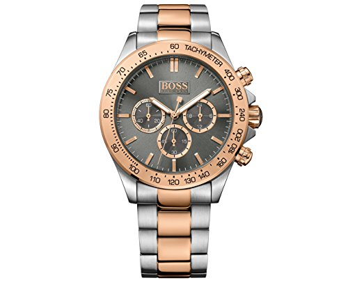 Hugo Boss 1513339 Ikon chronograaf horloge herenhorloge roestvrij staal 100m analoog chrono grijs rosé