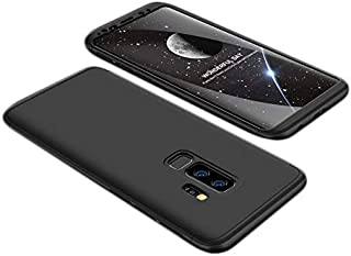 Samsung Galaxy S9+ Case, ultra Slim Gkk 360 Protection Cover Case - Black