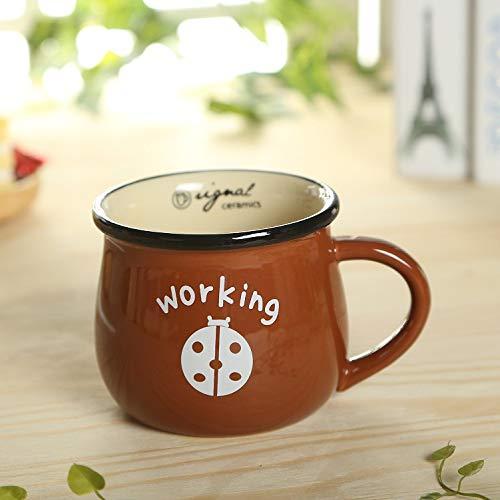 Taza de cerámica creativa taza de café linda del desayuno de la leche animal 350ML C