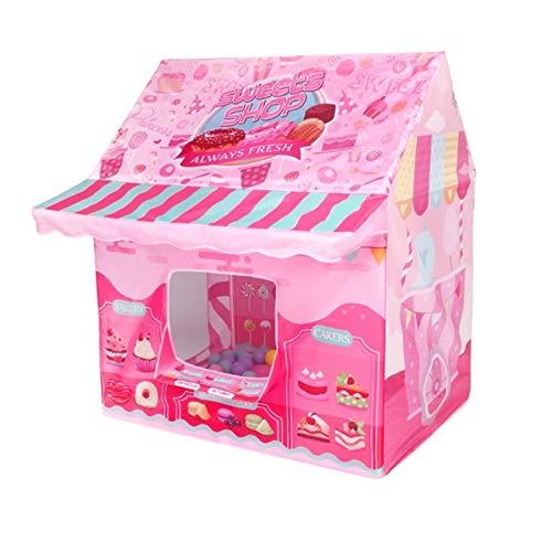 Goodvk Tienda Infantil Kids Play House Game Game Tent Tent Juguetes para niños Niño Chica Pink Helado Princess Castle Portátil Tienda de niños para Interiores Regalos para Niños