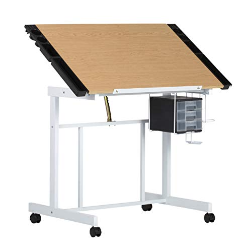 Studio Designs Deluxe Craft Station, Top Adjustable Drafting Table Craft Table Drawing Desk Hobby...