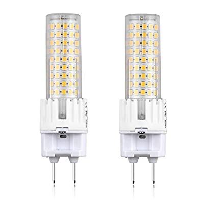 G8.5 LED Light Bulb, Bonlux 15W G8.5 Bi Pin Base Light Bulb 150W Halogen Replacement for Home, Corridor, Yard, Garage, Display Room Lighting, Daylight 6000K, 2-Pack