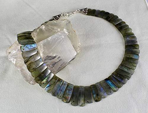 Juweel Kralen Natuurlijke Mooie Sieraden Natuurlijke Zwarte Labradoriet CABOCHON Kralen Ketting 18 INCHES 31 MM tot 15 MMCode:- JJBB-21076