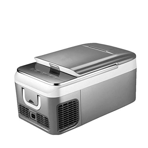 GHJA Refrigerador del Coche, Mini refrigerador del LED, operación silenciosa de la Entrada Dual 12V / 240V, portátil |Calentamiento Compacto de Alimentos para el hogar, la Oficina, el Coche o el