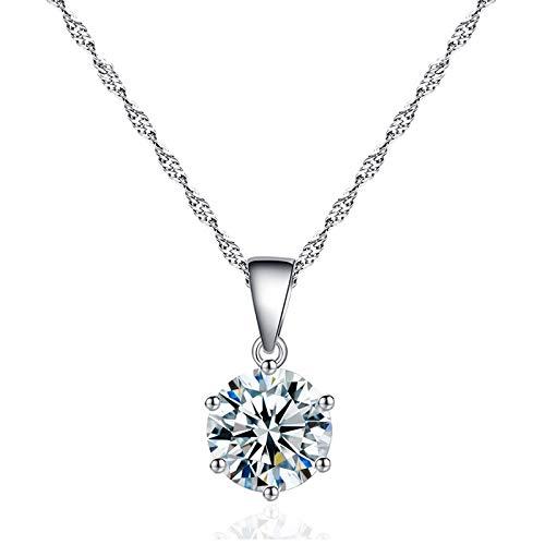 Collar Jewelry Colgante Collar Colgante De Circón De Cristal Femenino Cadena De Clavícula De Mujer Encantadora Regalos De Joyería De Moda Gargantilla D