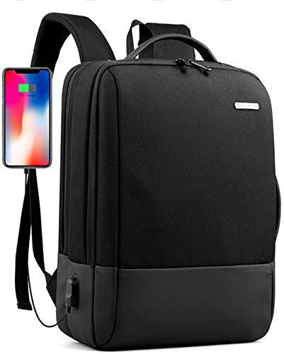 Rugzak Heren Zakelijke laptoprugzak met USB oplaadpoort Duurzame slanke computertas Schoolrugzak met laptopvak 15 inch Casual Rugzakken