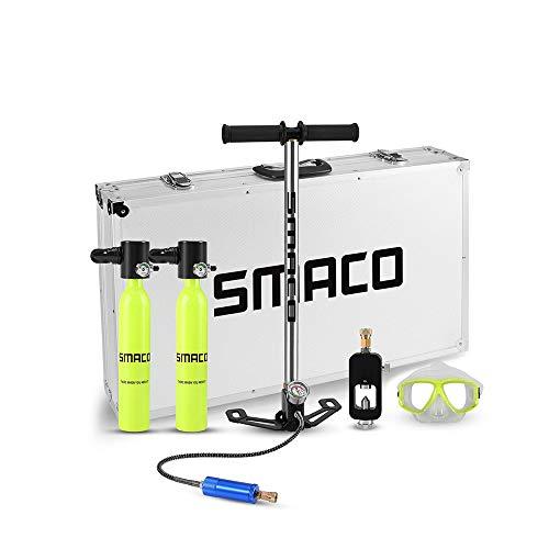 lululeague Scuba Sauerstoffflasche Tauchen, Diving Tank Ausrüstung, 0.5L Mini Tauchflasche 5-10 Minuten Frei Atmender Tragbarer, Silikonmaterial, Korrosions und Druckbeständiges Material (Grün)