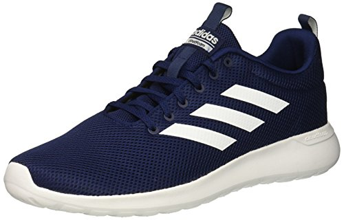 adidas Men's LITE Racer CLN Running Shoe, Dark Blue/White/Dark Blue, 10 M US