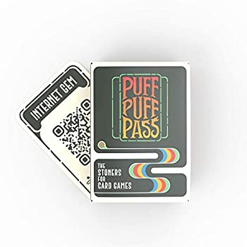 Puff Puff Pass  the Card Game for Stoners w/ 109 Hilarious Trivia Conversation Starters Would You Rathers and More.