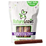 Nature Gnaws Bully Sticks for Large Dogs - Premium Natural Beef Bones...