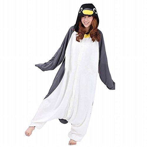 dressfan Unisex Tier pyjamas Erwachsener Pinguin Cosplay Kostüm (XL(70