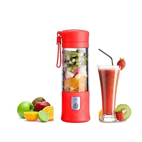 Lszdp-negozio Batidora portátil Mini Juice Cup Batidora USB Recargable con 6 Cuchillas de Acero Inoxidable Licuadora portátil