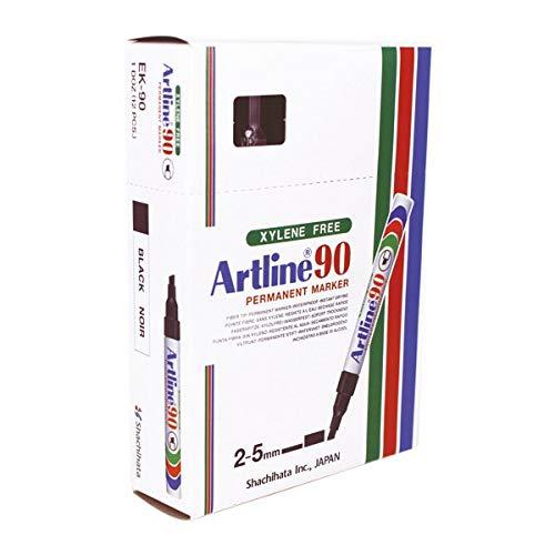 Rotulador Artline marcador permanente ek 90 color negro punta biselada 5 mm...