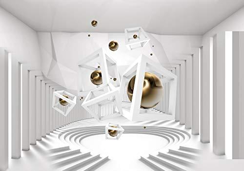 decomonkey Fototapete 3d Effekt 400x280 cm XL Tapete Fototapeten Vlies Tapeten Vliestapete Wandtapete moderne Wandbild Wand Schlafzimmer Wohnzimmer Abstrakt Kugeln