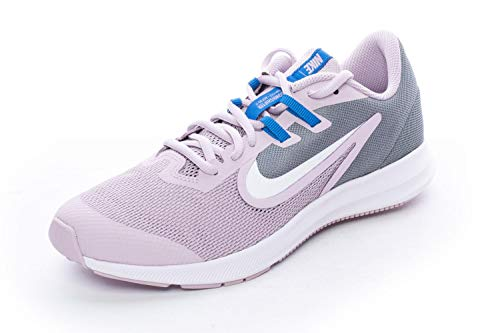 Nike Downshifter 9 (GS), Scarpe da Corsa, Blu (Iced Lilac/White/Smoke Grey/So 510), 36 EU