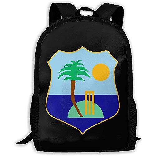 Kimi-Shop Schulrucksack West Indies Cricket Board Flagge 3D Erwachsene Outdoor Freizeit Sport Rucksack