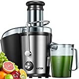 Juicer Machines, Aicok Juicer with 3''Wide Mouth, Easy to Clean, Ultra Power Dual Speed Juice Extractor for Fruits & Vegetables, Anti-drip Mouth, Non-slip feet, BPA Free
