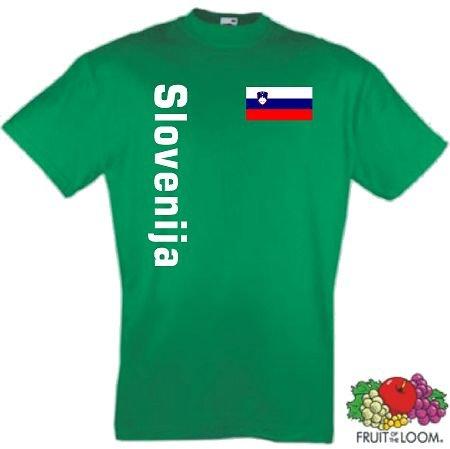 world-of-shirt Herren T-Shirt Slowenien / Slovenja Trikot 2-