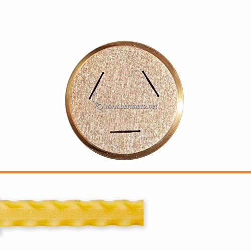 Teigwareneinsatz Pappardelle ricce 16mm Mafalde Reginette für professionelle Nudelmaschine VIP/2 2,8 kg und VIP4 4kg kompatibel mit FIMAR MPF 2,5 und MPF 4 - Matrize aus Bronze