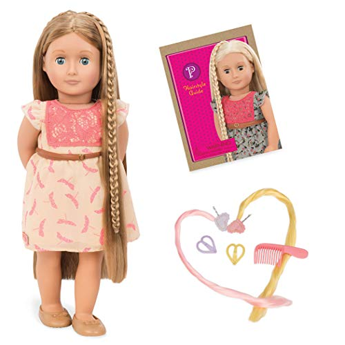 Our Generation 44442 Hairgrow Doll, Light Brown, Portia, hellbraune, 46 cm
