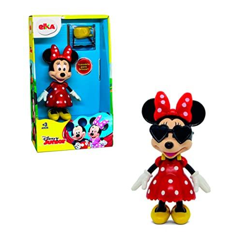 Boneca Minnie, Elka, corpo preto/luva branca/vestido vermelho/sapato amarelo/rosto pele