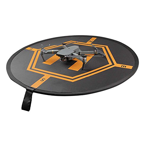 vhbw Landematte Landeplatz schwarz-orange für Drohne Multicopter Quadrocopter DJI Phantom 1, 2, 3, 4