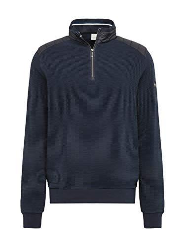 bugatti Herren Troyer Sweatshirt, Blau (marine), L