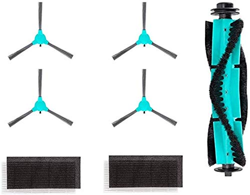 DeenKee DK600 Robot Vacuum Replacement Accessories Including 4 Side Brushes,1 Roller Brush,1 Filter HEPA. Brushes Dining Features Kitchen