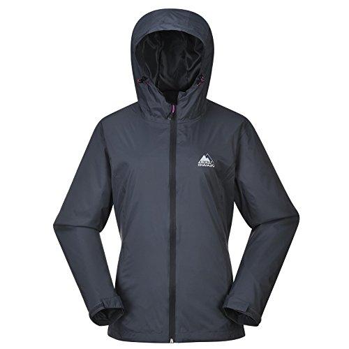 Cox Swain Damen Outdoor Funktions Regenjacke Breaker 8.000mm Wassersäule + 5.000mm atmungsaktiv, Colour: Grey/Black Zipper, Size: XS