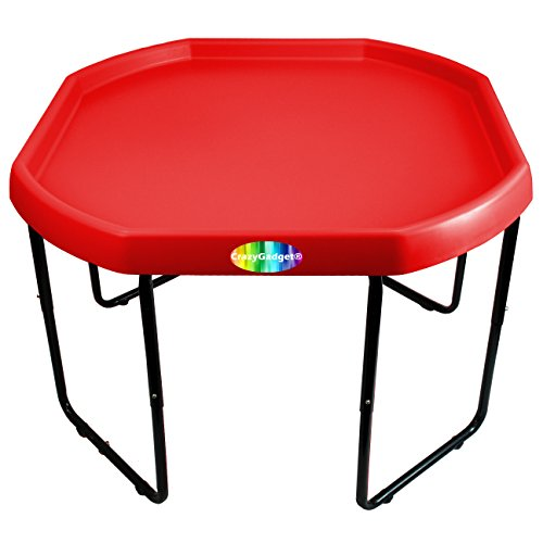 CrazyGadget Children Kids Tuff Spot with Stand Colour Mixing Tray Large Plastic for Playing Toy Sand Pool Pit Water Game Animal Figures etc. - MADE IN UK (Red)