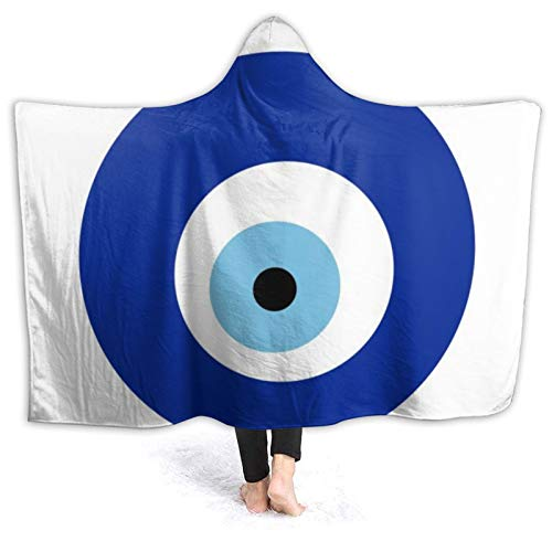 Moshow Hooded Blanket Soft and Warm Flannel Evi Eye Symbol Throw Blanket for Couch Sofa 50x40 inch