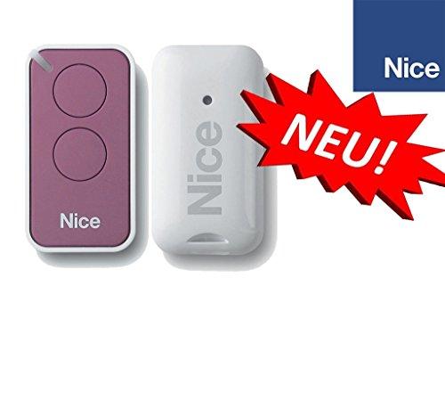 NICE INTI2L lillac 2-kanal handsender, 433.92Mhz rolling code. Kompatibel mit FLOR-S, ONE, FLORE, INTI fernbedienungen.