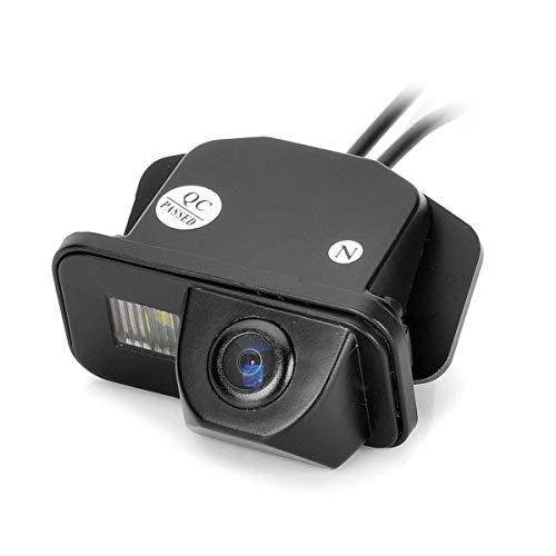 Farb Rückfahrkamera integriert in die Nummernschildbeleuchtung LED Kennzeichenbeleuchtung Kamera mit Distanzlinien für Toyota Corolla/Tarago/Previa/Wish/Aiphard Avensis T25 T27