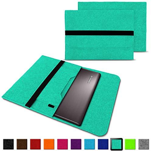 NAUC Notebook Tasche kompatibel für Lenovo Yoga 520 14 Zoll Hülle Filz Sleeve Case Schutzhülle Cover, Farben:Mint