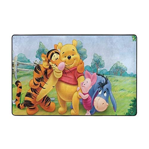 haoqianyanbaihuodian Alfombra de área súper suave para niños, sala de estar, habitación de niños, niñas, alfombra de decoración del hogar, 156 x 95 cm