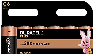 Duracell MN1400B6 Plus Power Batterie C Größe 6 Pack