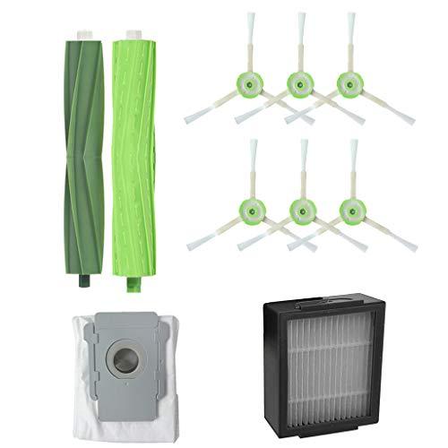 Mumuj - Kit de herramientas de repuesto para aspiradora, bolsas de suciedad para robots, filtros de limpieza para el hogar, adecuado para iRobot Roomba i7 + / i7 plus E5 E6 E7(9 unidades)