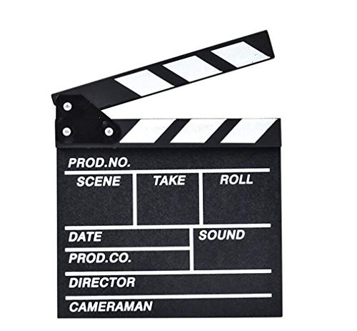 rongweiwang Director Video Scene Clapperboard TV clapper board video clapper Movie Clapper Board Film Slate Photography Prop Black White