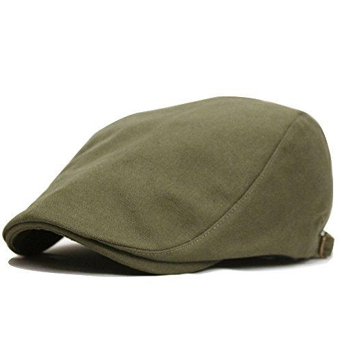 帽子 メンズ 大きいサイズ ハンチングビッグソリッズ (カーキ)