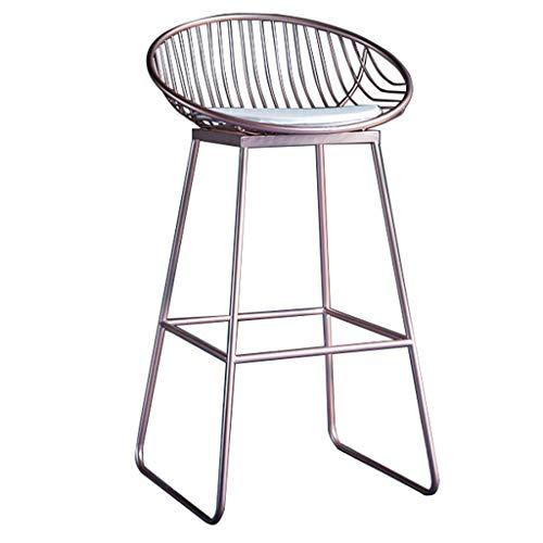 MTCGH Stühle, Hochstühle, Barstühle, Hocker Barhocker Barhocker - Nordischer Kreativer Barstuhl - Pu Gepolstet - Eisenrahmen - Höhe Fußstütze,65 cm,65 cm