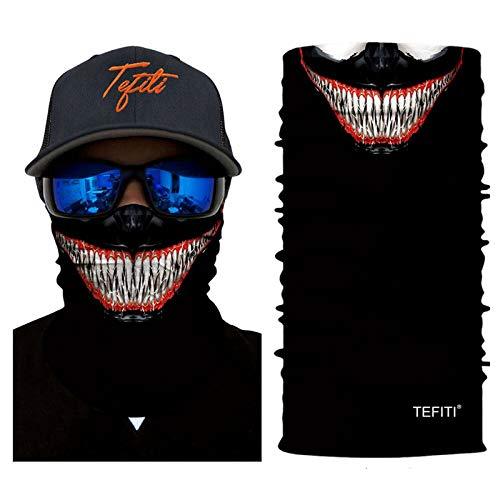 TEFITI Stretchable Face Scarf Guards Balaclava Headwear for Camping,Running,Cycling,Biking,Motorcycling,Fishing,Hunting,Yard Working and Sun UV Protection