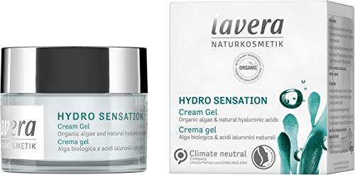 lavera Hydro Sensation Gel Crema, Algas orgánicas & ácidos hialurónicos naturales, cosméticos naturales, vegan, certificado, 50ml