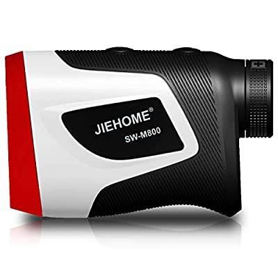jiehome Golf Rangefinder 800Yds, 6X Laser Range Finder with Flag-Lock Vibration Pinsensor Slope ON/Off and Continuous Scan Rechargeable - Tournament Legal Golf Rangefinder