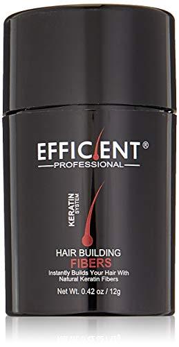 EFFICIENT Keratin Hair Building Fibers, Hair Loss Concealer, 12 g/0.42 oz., Medium Brown