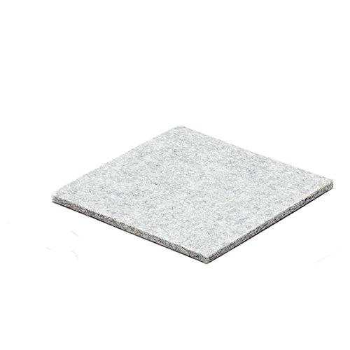 ESTA-Design Set de Table Comprenant Dessous de Verre en Feutre Gris Clair 5 mm